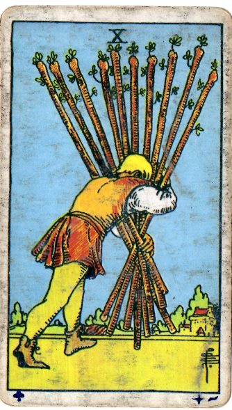 TEN of WANDS S